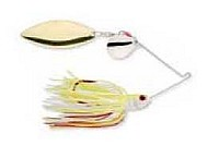 Strike King - Bleeding Spinnerbait - Chartreuse/White (Tandem) - 3/16 oz.