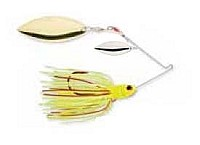 Strike King - Bleeding Spinnerbait - Chartreuse (Double Willow Blade) - 1/2 oz.