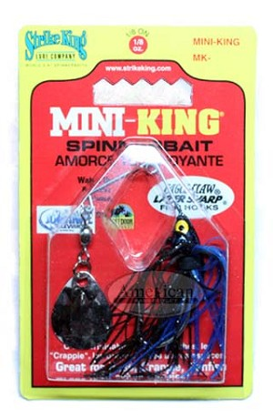 Strike King - Mini King - Black/Blue - 1/8 oz.